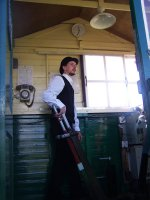 A volunteer operating The Farm signalbox (photo: Chris Dearden)