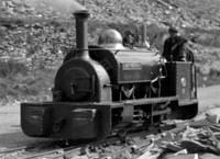 cabless tank engine working in a quarry; b/w